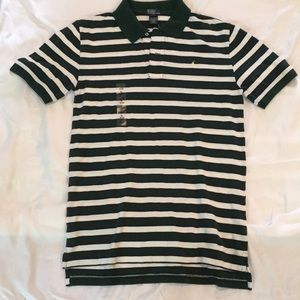 Green White and Blue Striped Polo be Ralph Lauren